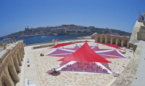 Sail shade World shade sail in Valletta, Malta