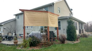 Sail shade World shade sail in Michigan, United States